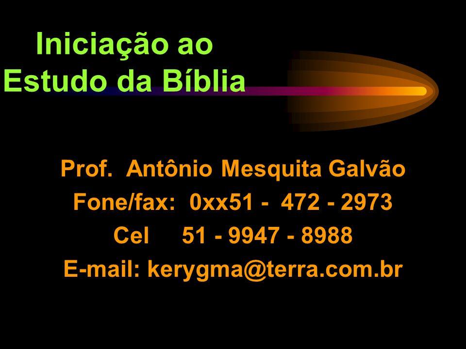 Iniciação ao Estudo da Bíblia