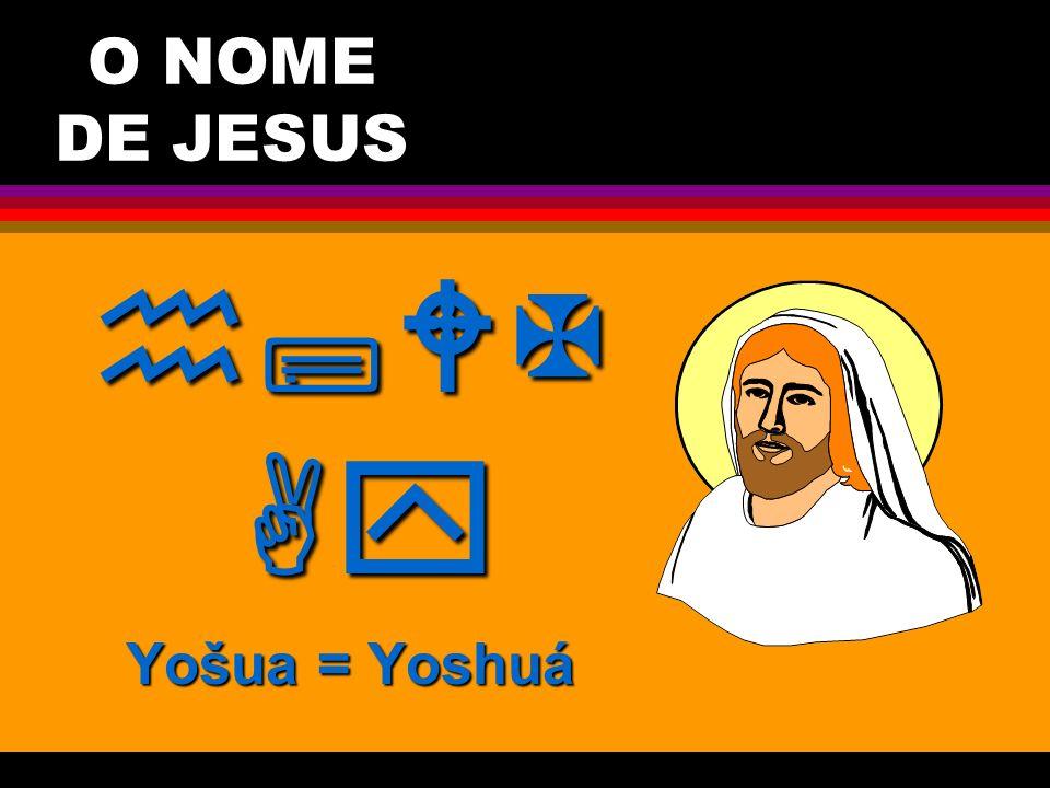 O NOME DE JESUS  Yošua = Yoshuá Javé Salva!