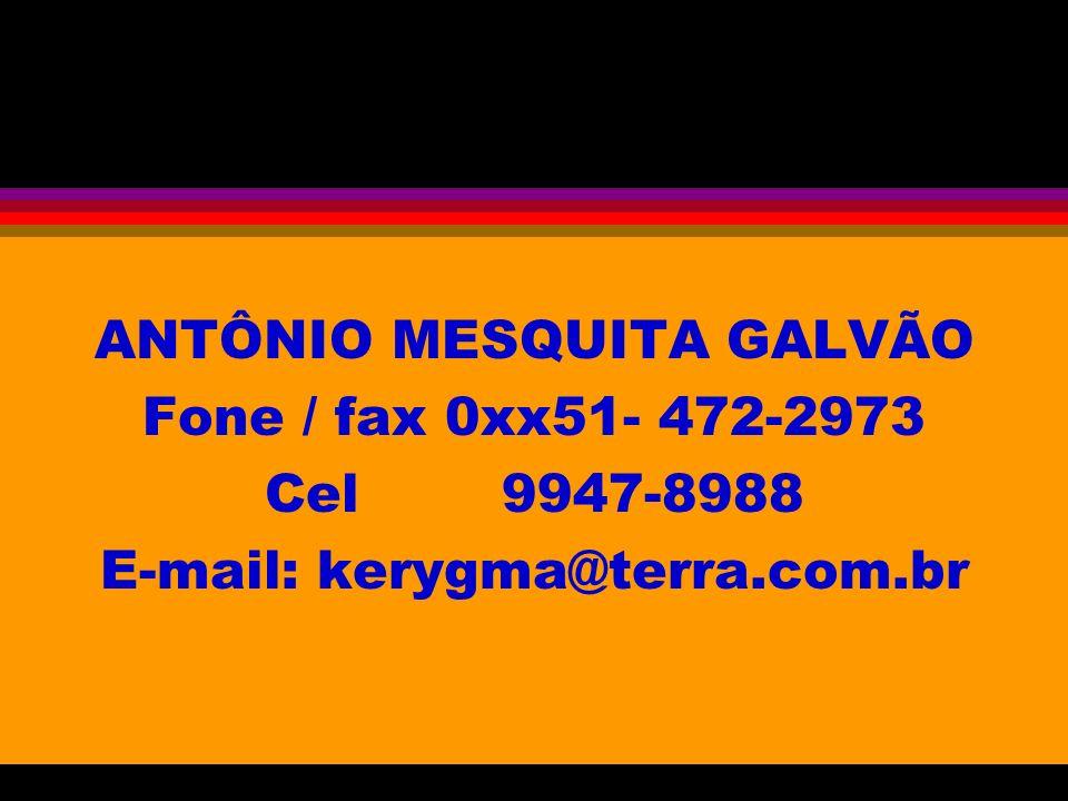 ANTÔNIO MESQUITA GALVÃO Fone / fax 0xx51- 472-2973 Cel 9947-8988