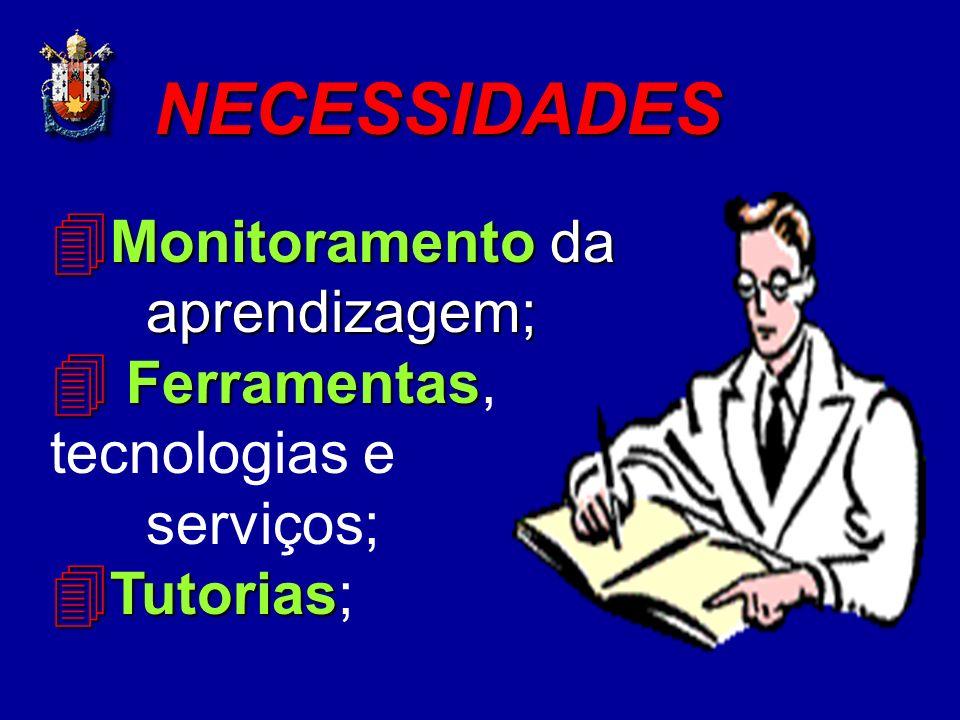 NECESSIDADES Monitoramento da aprendizagem;