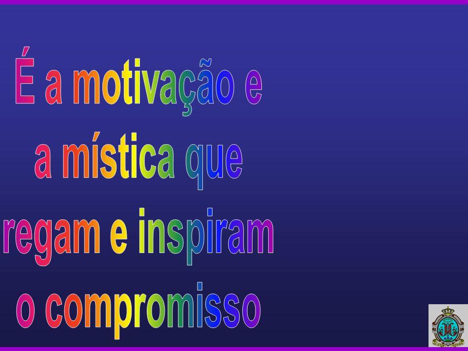 É a motivação e a mística que regam e inspiram o compromisso