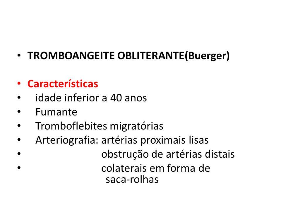TROMBOANGEITE OBLITERANTE(Buerger)