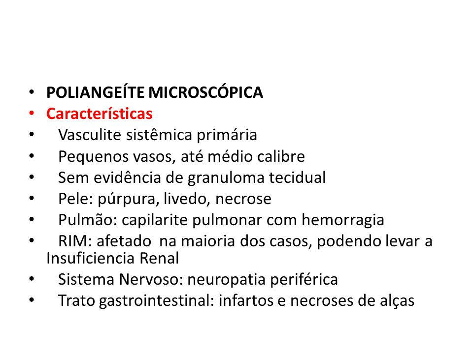 POLIANGEÍTE MICROSCÓPICA