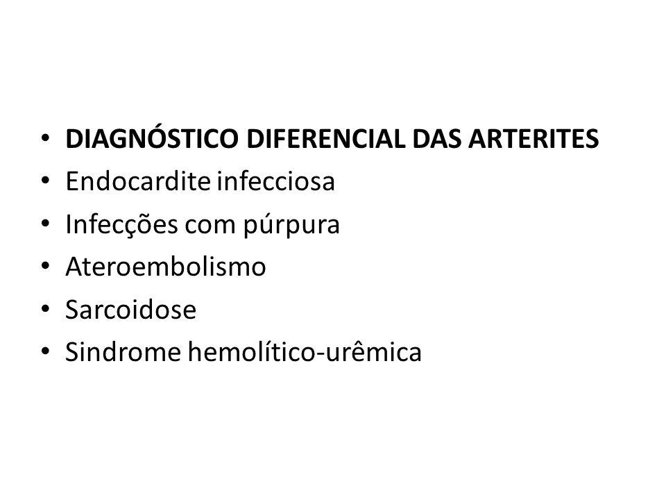 DIAGNÓSTICO DIFERENCIAL DAS ARTERITES
