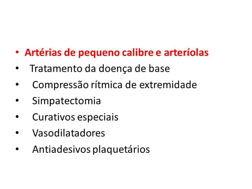 Artérias de pequeno calibre e arteríolas
