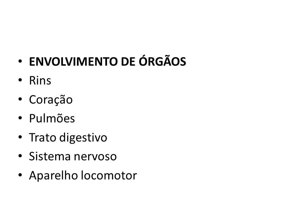 ENVOLVIMENTO DE ÓRGÃOS