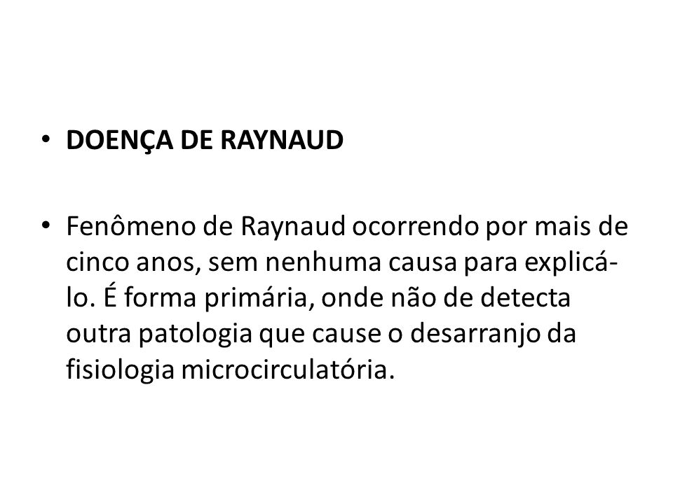 DOENÇA DE RAYNAUD