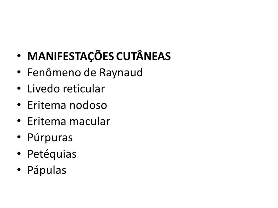 MANIFESTAÇÕES CUTÂNEAS