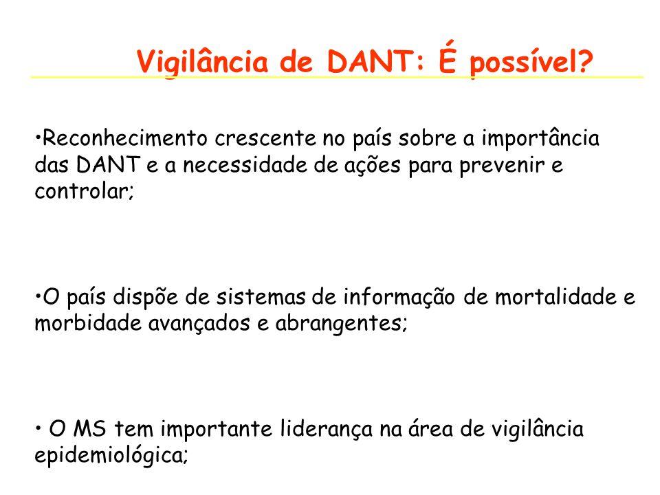Vigilância de DANT: É possível