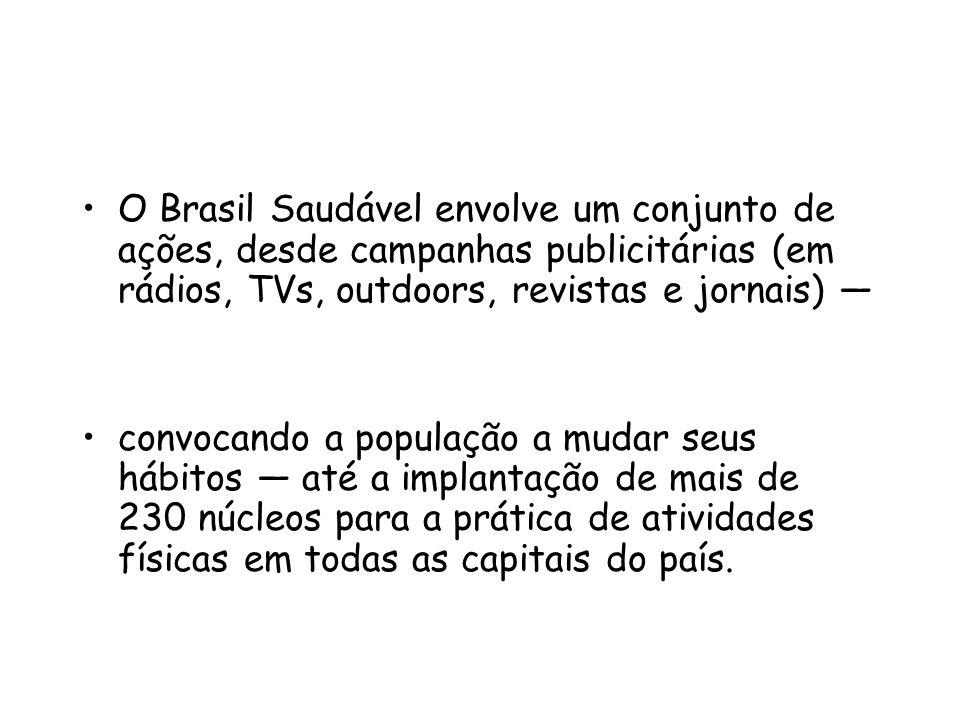 O Brasil Saudável envolve um conjunto de ações, desde campanhas publicitárias (em rádios, TVs, outdoors, revistas e jornais) —