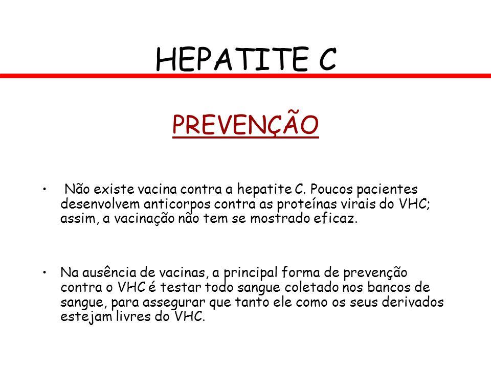 HEPATITE C PREVENÇÃO.