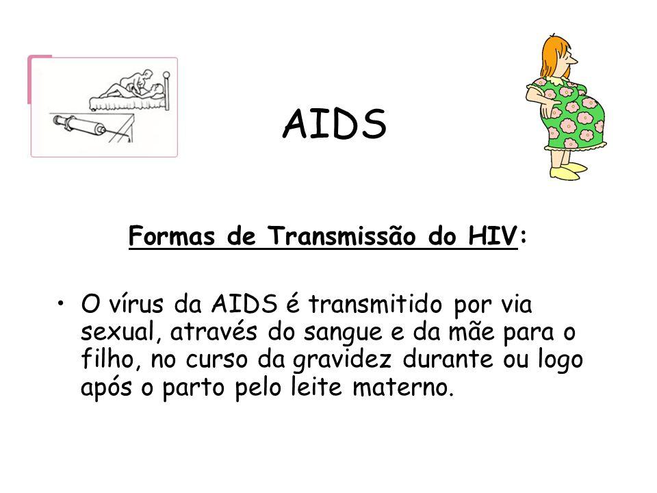 Formas de Transmissão do HIV: