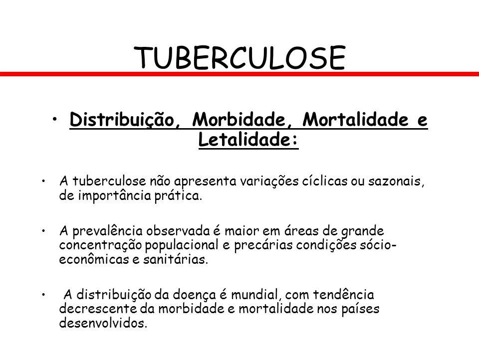 Distribuição, Morbidade, Mortalidade e Letalidade: