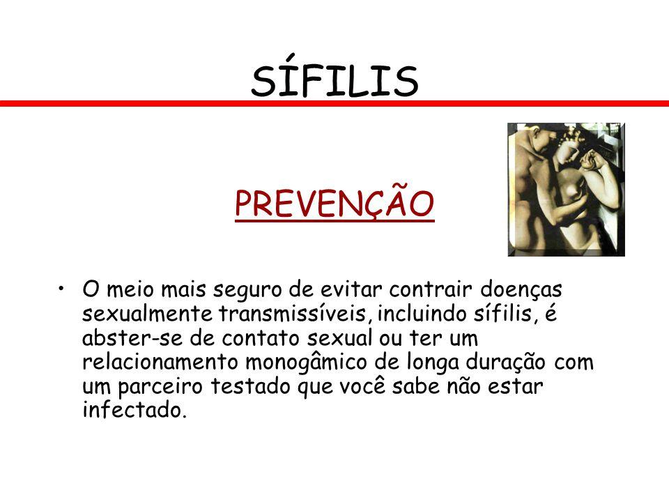 SÍFILIS PREVENÇÃO.