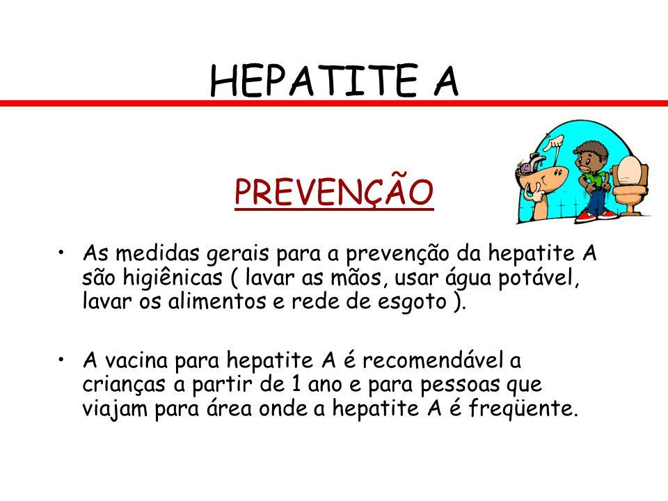 HEPATITE A PREVENÇÃO.