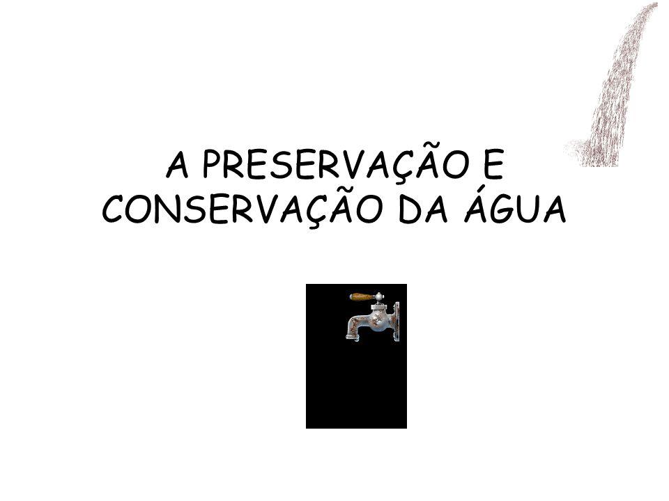 A PRESERVAÇÃO E CONSERVAÇÃO DA ÁGUA