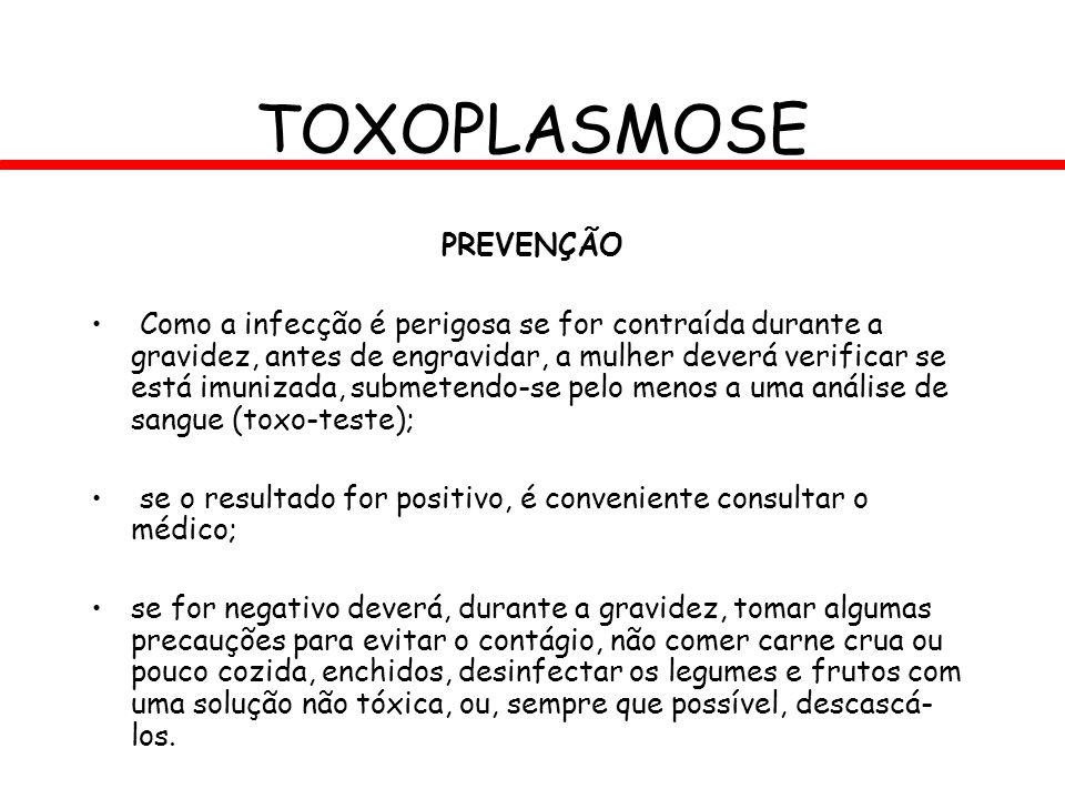 TOXOPLASMOSE PREVENÇÃO