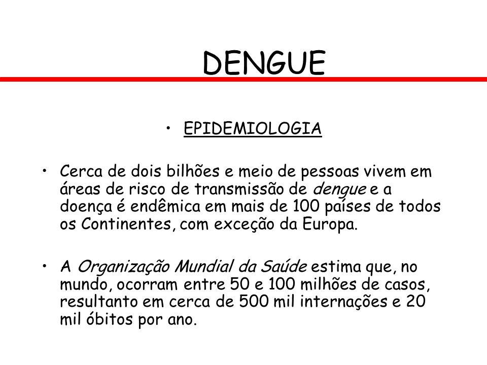 DENGUE EPIDEMIOLOGIA.