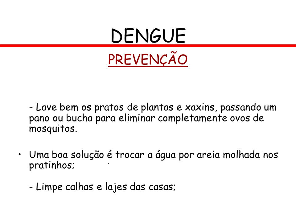 DENGUE PREVENÇÃO. - Lave bem os pratos de plantas e xaxins, passando um pano ou bucha para eliminar completamente ovos de mosquitos.