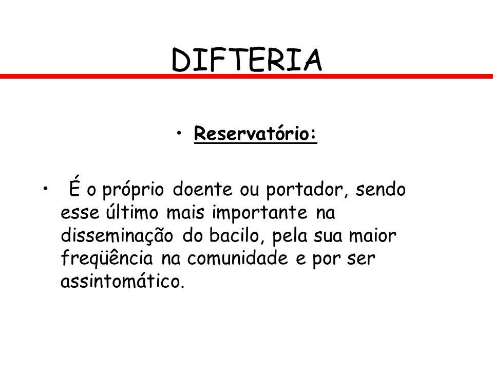 DIFTERIA Reservatório: