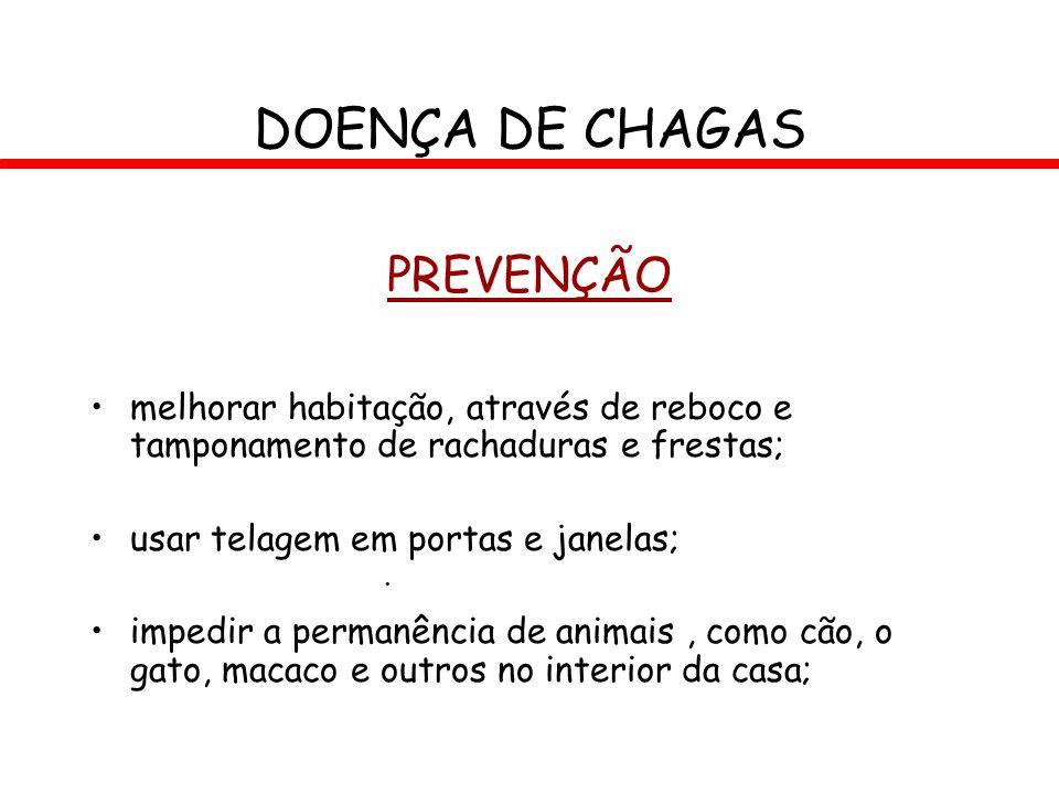 DOENÇA DE CHAGAS PREVENÇÃO