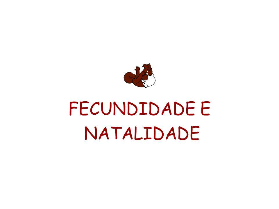 FECUNDIDADE E NATALIDADE