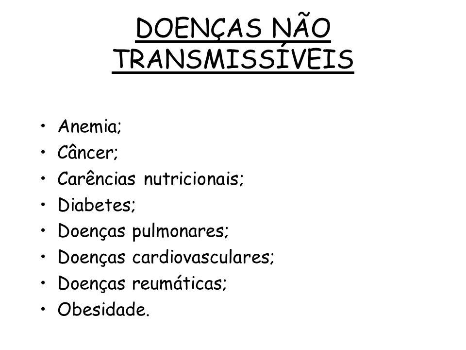 DOENÇAS NÃO TRANSMISSÍVEIS