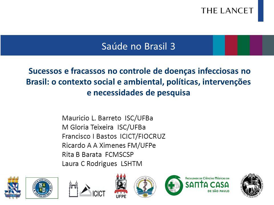 Saúde no Brasil 3 Sucessos e fracassos no controle de doenças infecciosas no Brasil: o contexto social e ambiental, políticas, intervenções e necessidades de pesquisa