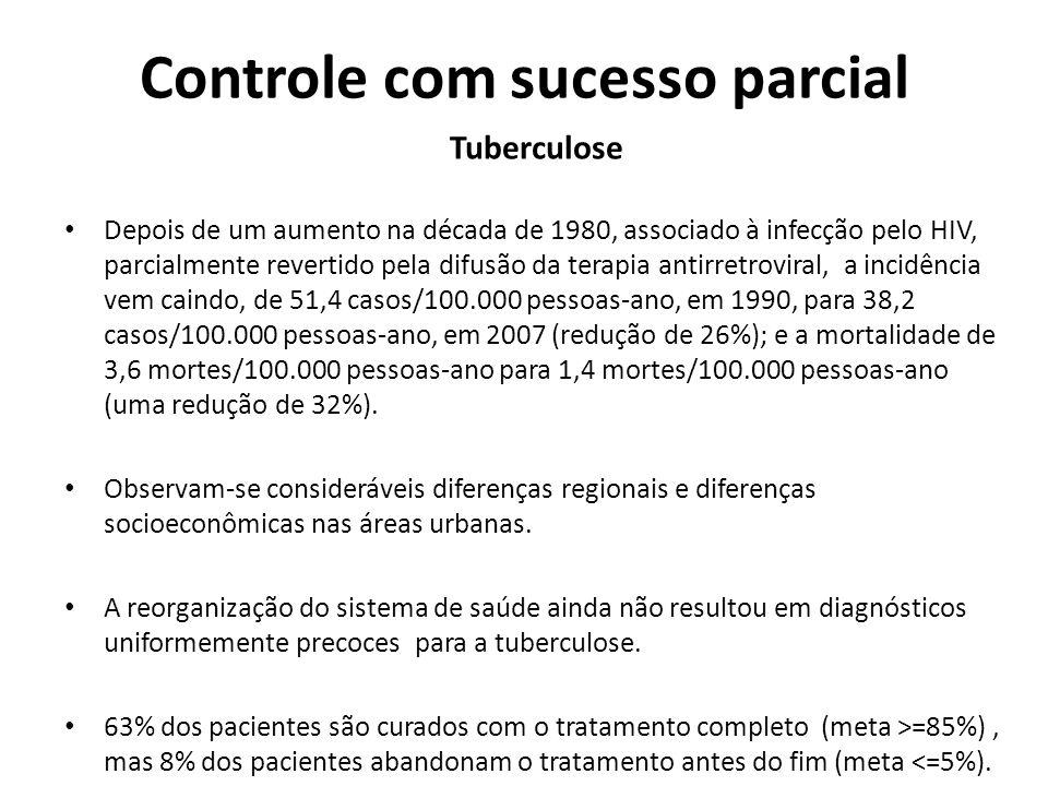 Controle com sucesso parcial
