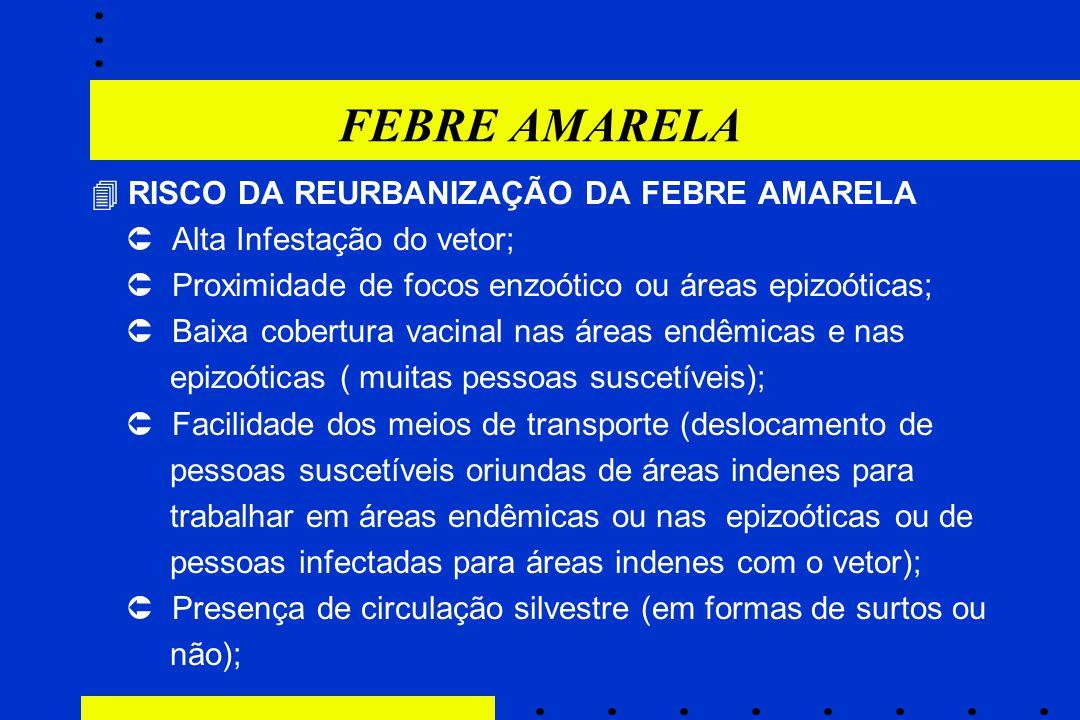 FEBRE AMARELA  RISCO DA REURBANIZAÇÃO DA FEBRE AMARELA