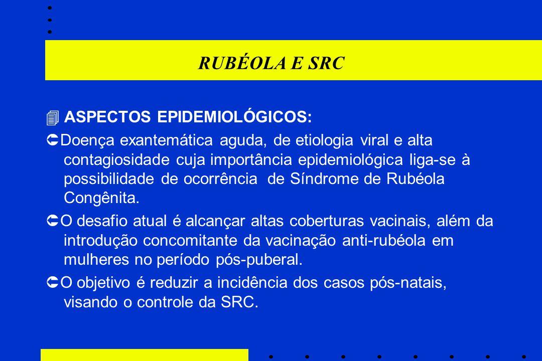 RUBÉOLA E SRC  ASPECTOS EPIDEMIOLÓGICOS: