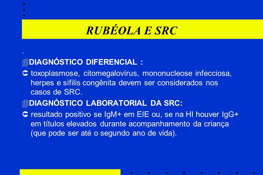 RUBÉOLA E SRC . DIAGNÓSTICO DIFERENCIAL :