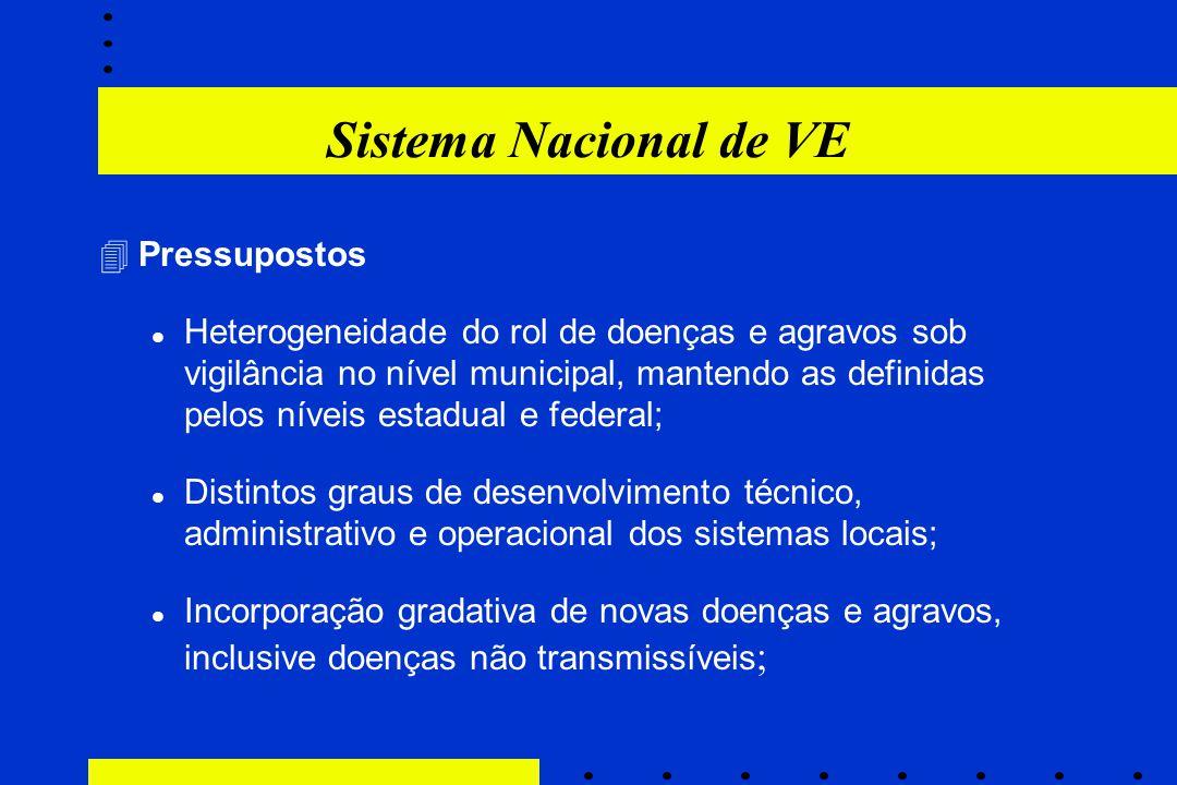 Sistema Nacional de VE Pressupostos