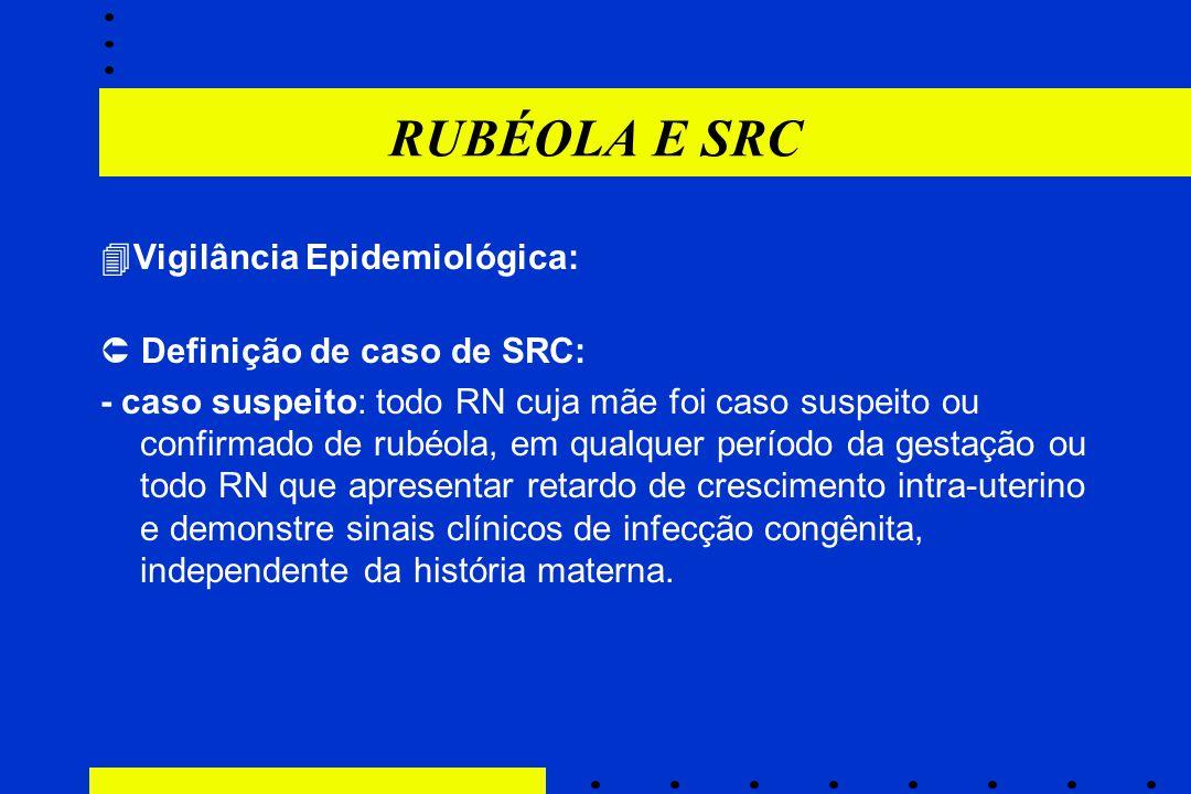 RUBÉOLA E SRC Vigilância Epidemiológica:  Definição de caso de SRC: