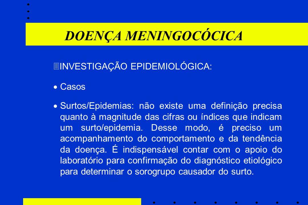 DOENÇA MENINGOCÓCICA INVESTIGAÇÃO EPIDEMIOLÓGICA: Casos