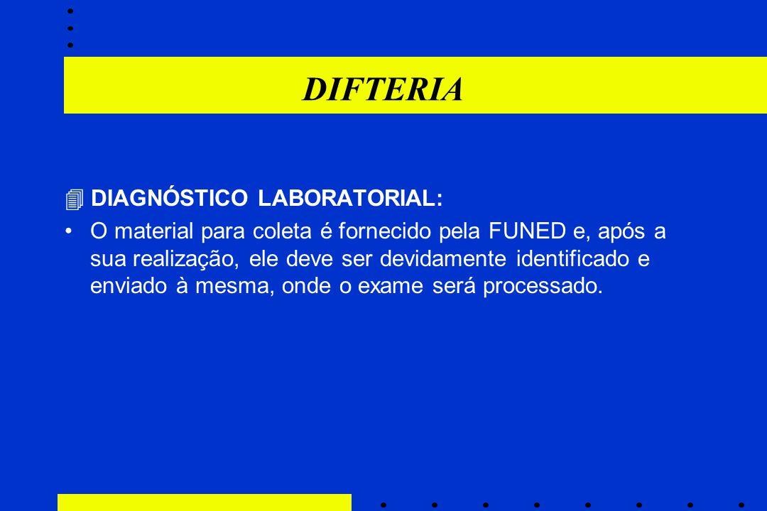 DIFTERIA  DIAGNÓSTICO LABORATORIAL: