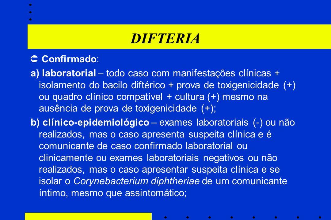 DIFTERIA  Confirmado: