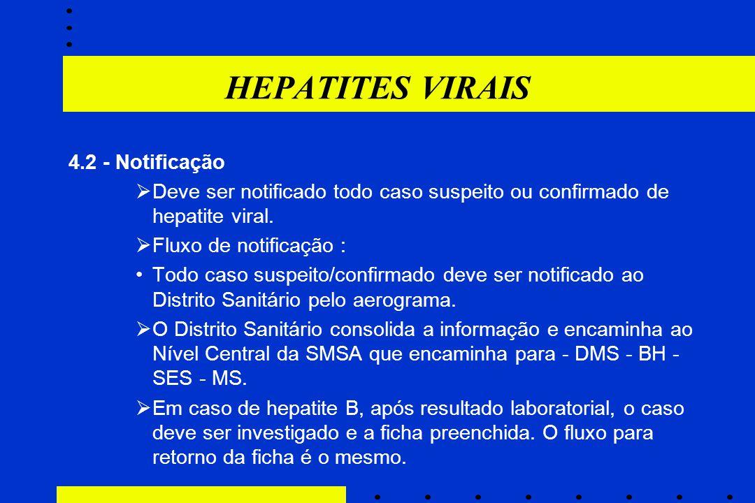 HEPATITES VIRAIS 4.2 - Notificação