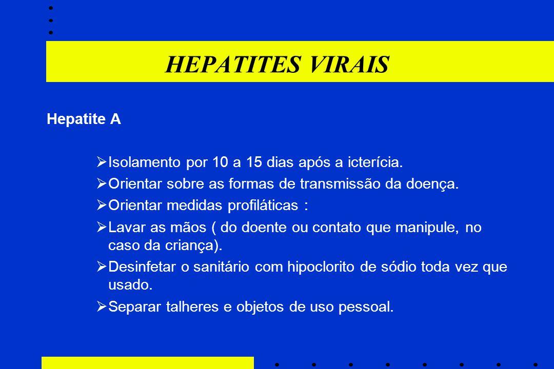 HEPATITES VIRAIS Hepatite A