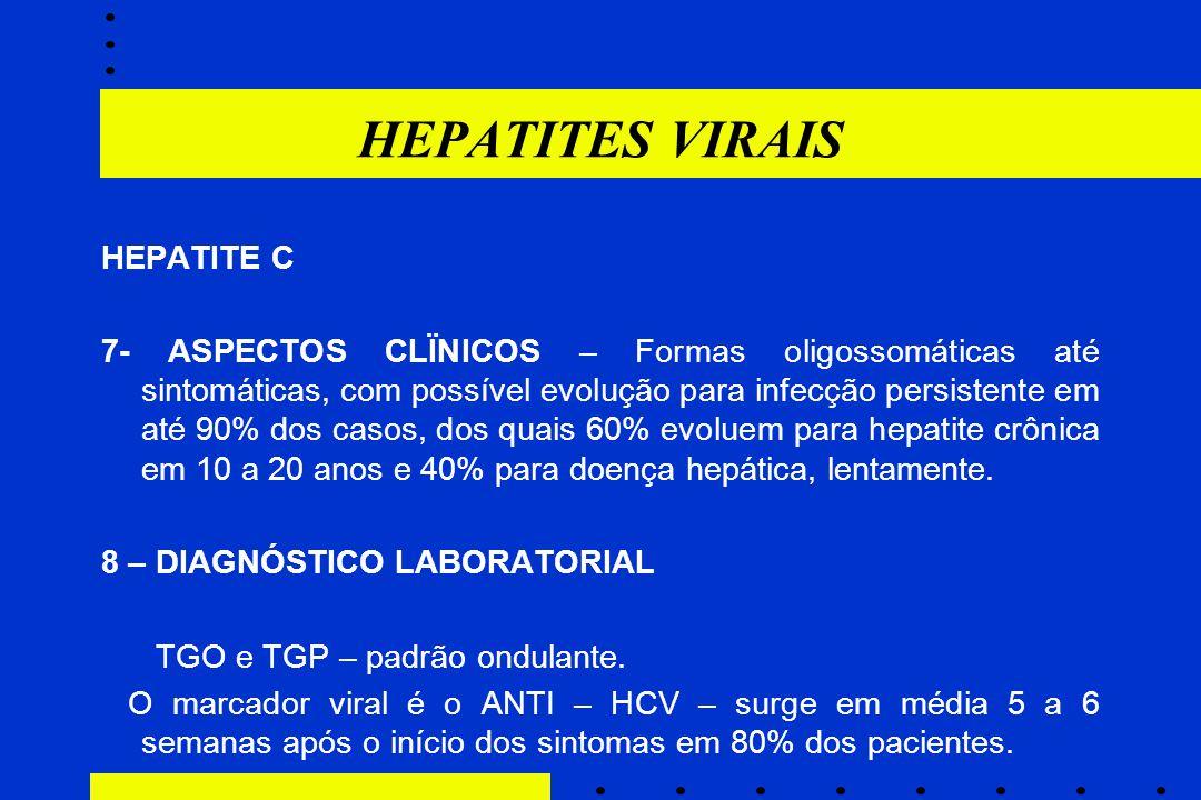 HEPATITES VIRAIS HEPATITE C