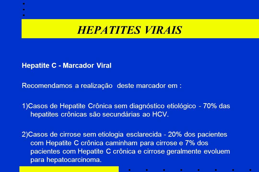 HEPATITES VIRAIS Hepatite C - Marcador Viral