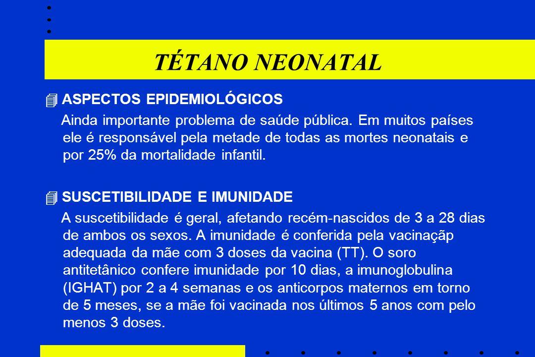 TÉTANO NEONATAL  ASPECTOS EPIDEMIOLÓGICOS