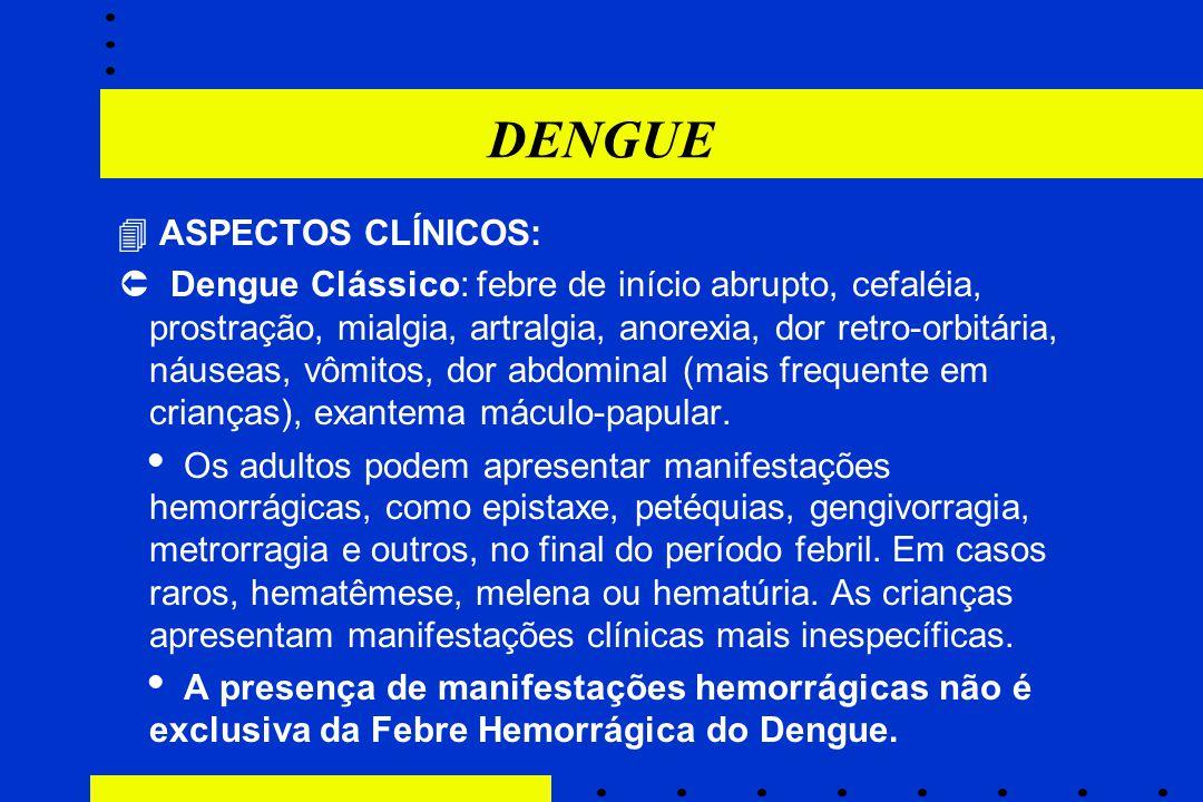 DENGUE  ASPECTOS CLÍNICOS: