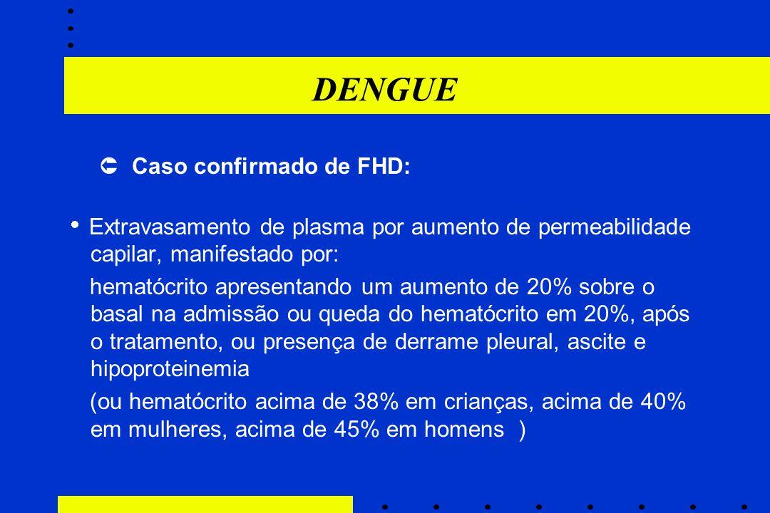 DENGUE  Caso confirmado de FHD: