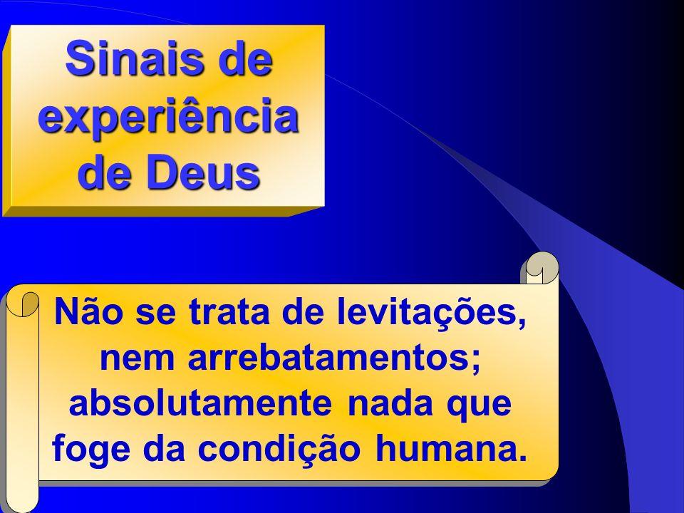 Sinais de experiência de Deus