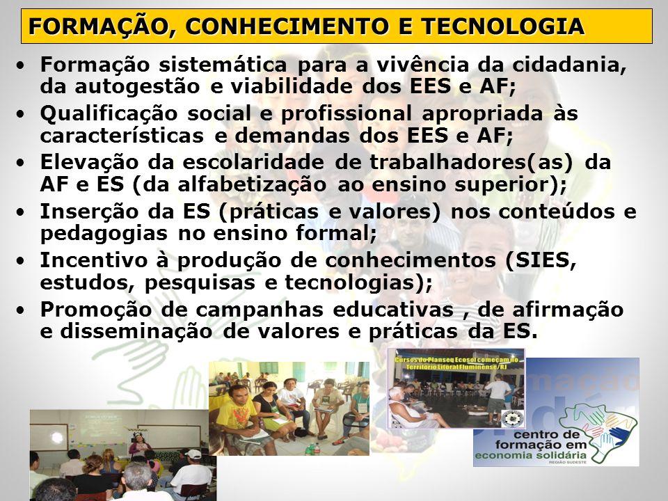 FORMAÇÃO, CONHECIMENTO E TECNOLOGIA