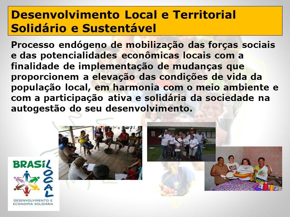 Desenvolvimento Local e Territorial Solidário e Sustentável