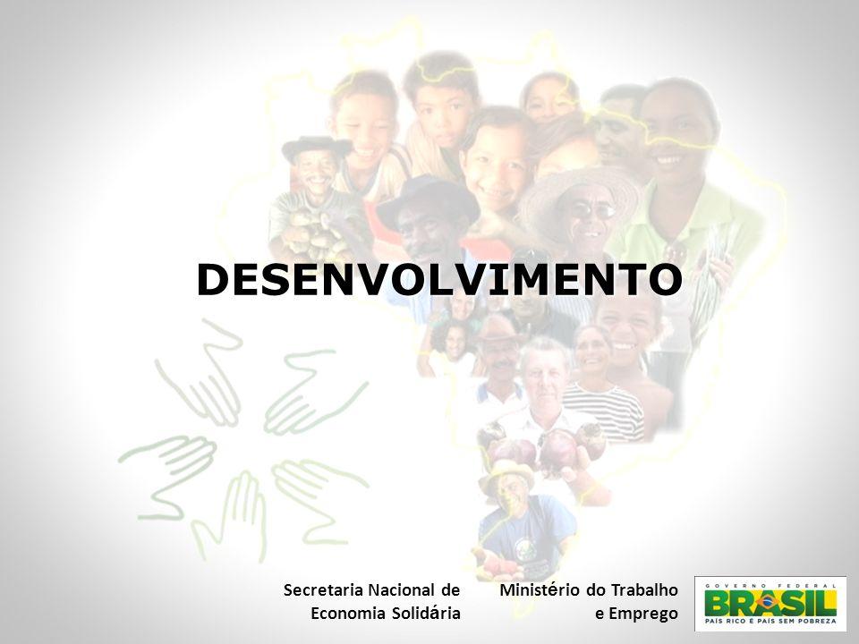 DESENVOLVIMENTO Secretaria Nacional de Economia Solidária