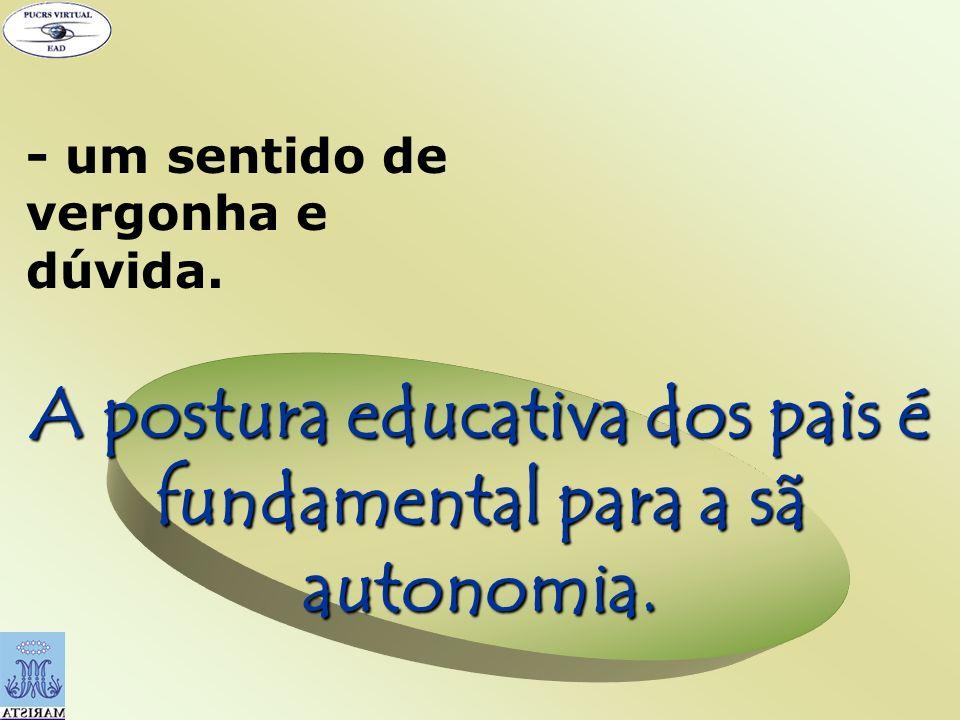 A postura educativa dos pais é fundamental para a sã autonomia.
