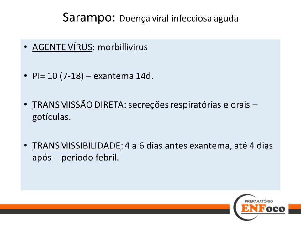 Sarampo: Doença viral infecciosa aguda